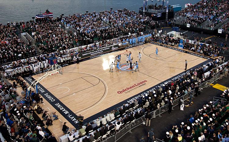 青海企口实木运动地板厂家直销