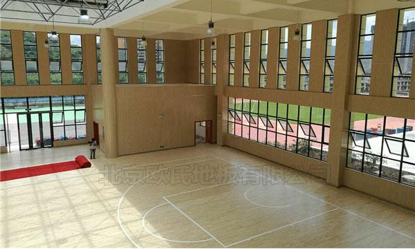 四川泸州市叙永县城西实验学校运动BOB棋牌app下载铺设工程案例