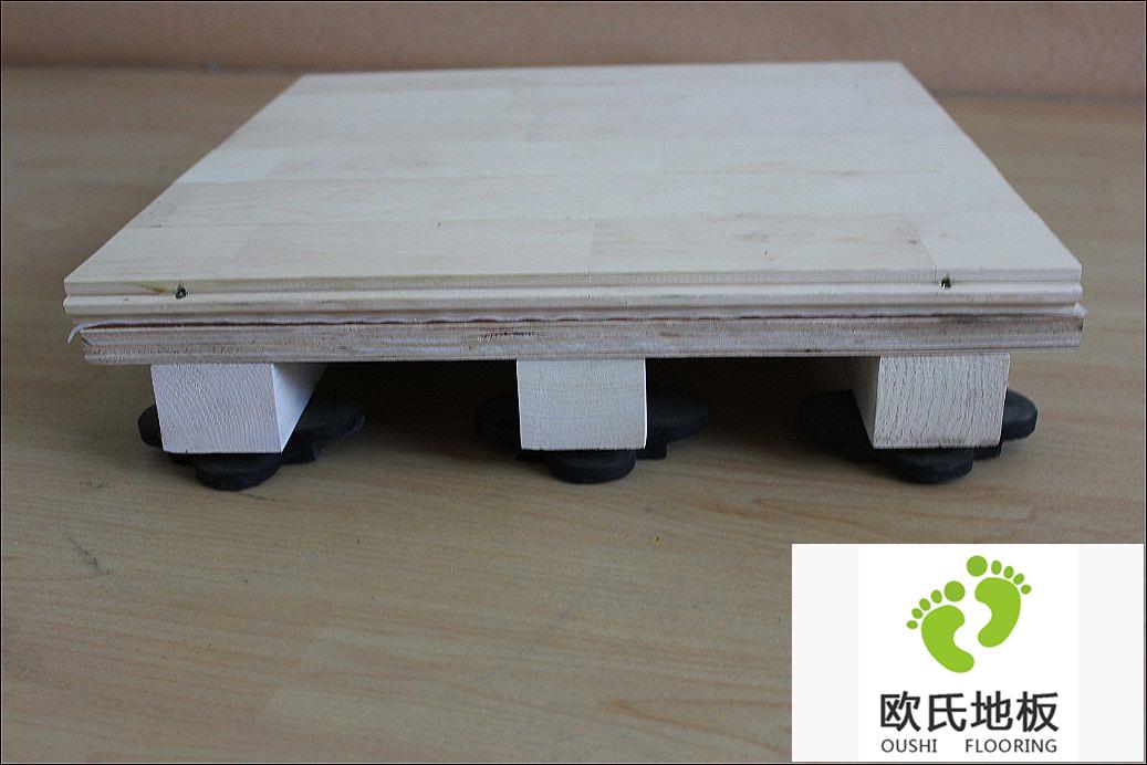 体育木地板双层龙骨篮球专业木地板介绍