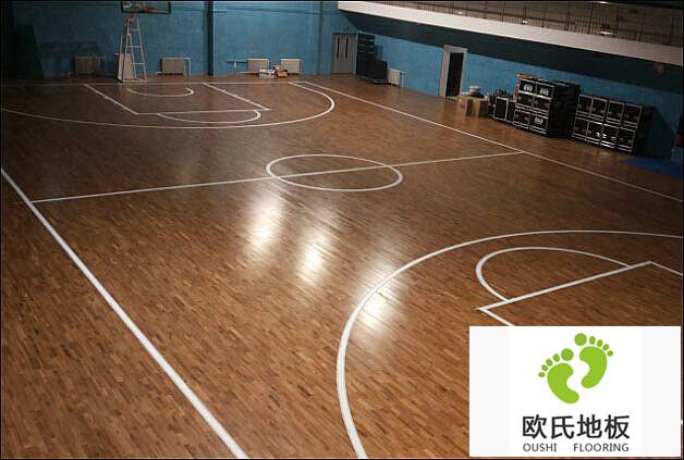 篮球场地板施工案例-北京房山长沟中学
