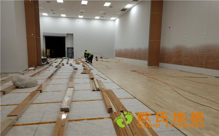北京环球影城篮球馆运动木地板案例