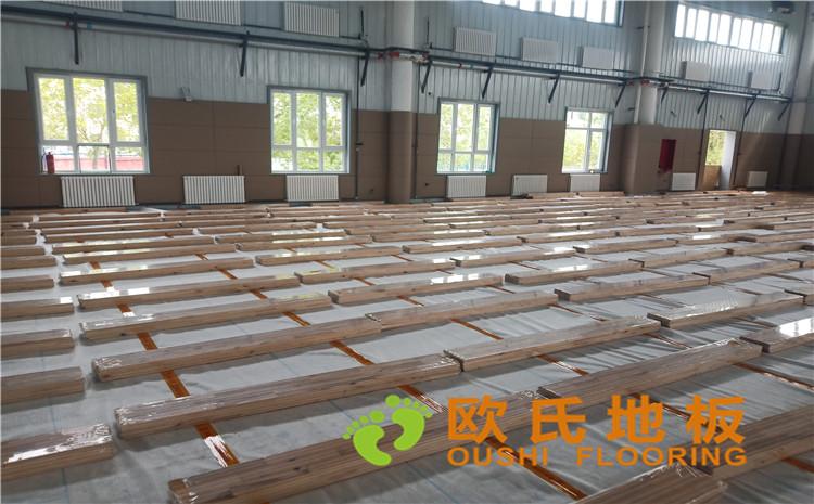 新疆独山子虹园小区体育馆木地板项目