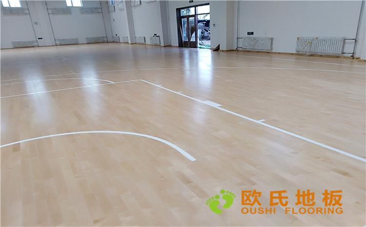 佳木斯市同江消防队篮球馆木地板项目