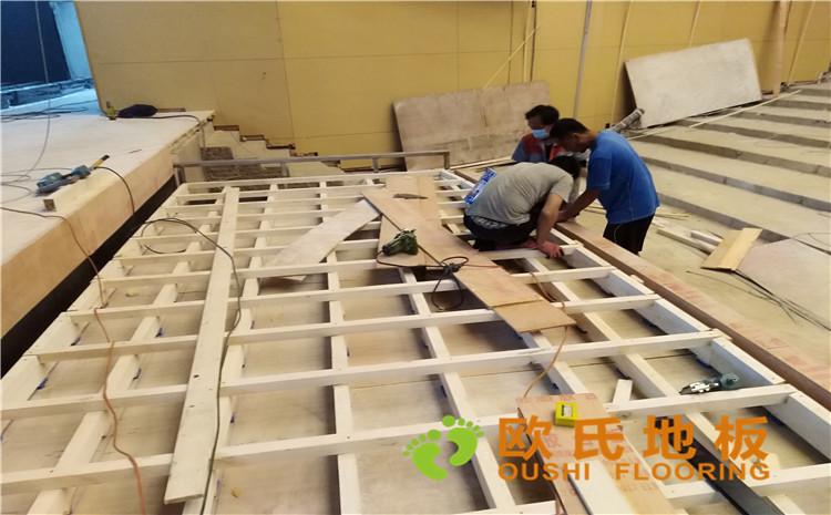 河北廊坊益田同文学校舞台木地板项目